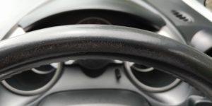 ホンダ フィット FIT レザー製ステアリングの擦れリペア