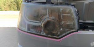 三菱 デリカ ヘッドライトコーティングの ヘッドライトスチーマー 施工 ~ 岡山 トータルリペア リペスタ ~