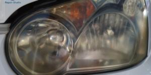 スチームを利用したヘッドライトコーティングリペア をスバル インプレッサへ施工