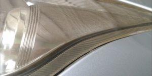 トヨタ ブレイド ヘッドライト リペア クラック 除去とスチーマー処理 -岡山 トータルリペア リペスタ -