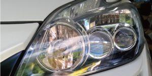 トヨタ プリウス ヘッドライトコーティングの ヘッドライトスチーマー -岡山 トータルリペア リペスタ -
