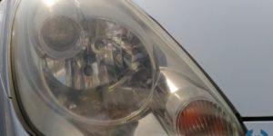 特殊なスチームを利用した ヘッドライトコーティング をトヨタ MR-S へ施工
