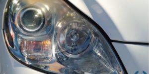 岡山 ヘッドライトコーティング SC430へ施工