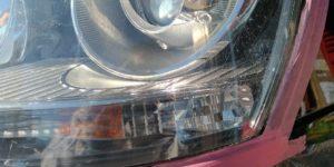ヘッドライトクリア塗装 の割れ(クラック) をリペア