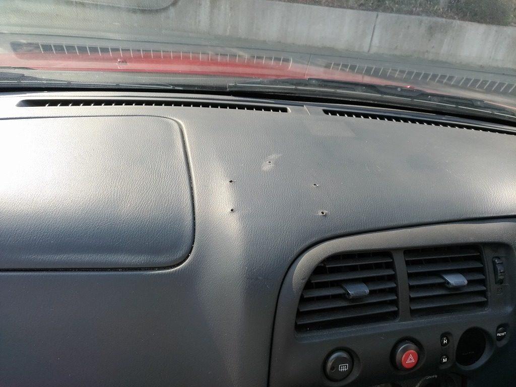 スカイライン GT-R33 ダッシュボード ビス穴 リペア前