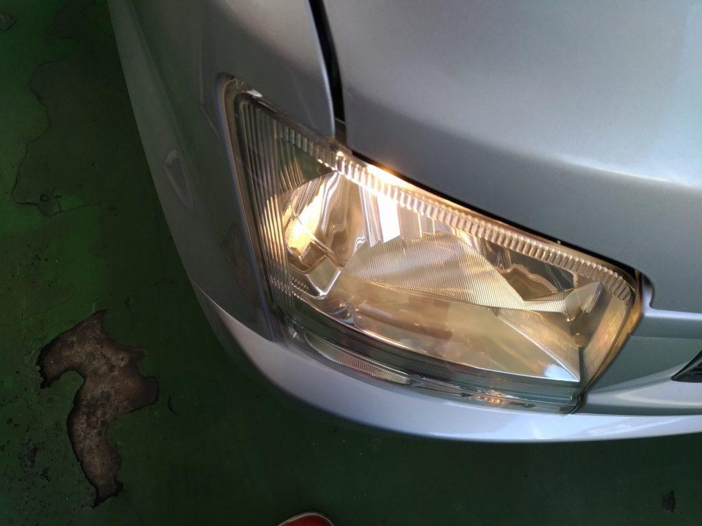 ヘッドライト クラック 除去 後