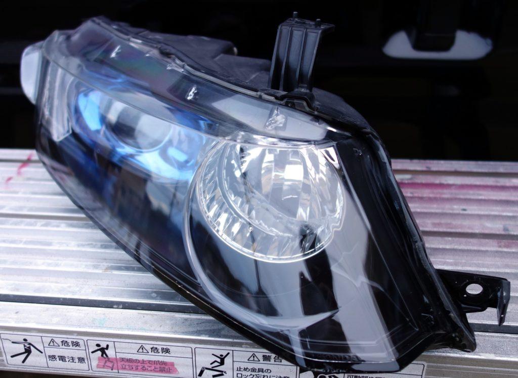 ヘッドライトコーティング スチーマー 処理