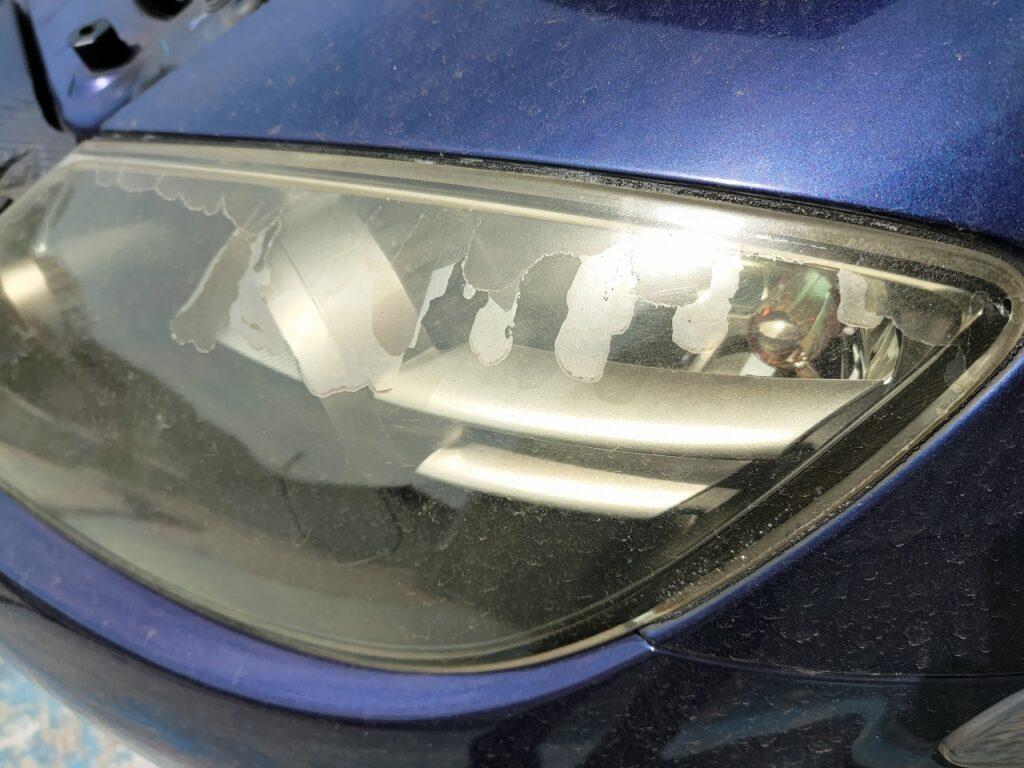 クリア塗装 剥離 ヘッドライトリペア