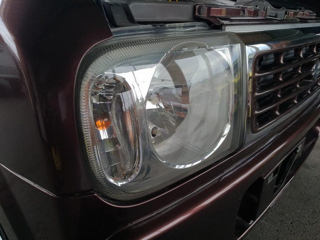 ラパン ヘッドライトコーティング